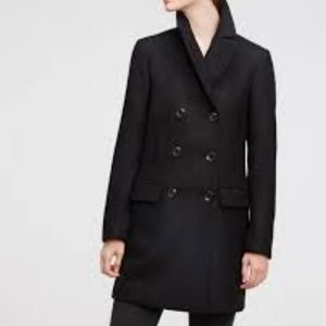 Forever21 Black Double Breasted Pea Coat